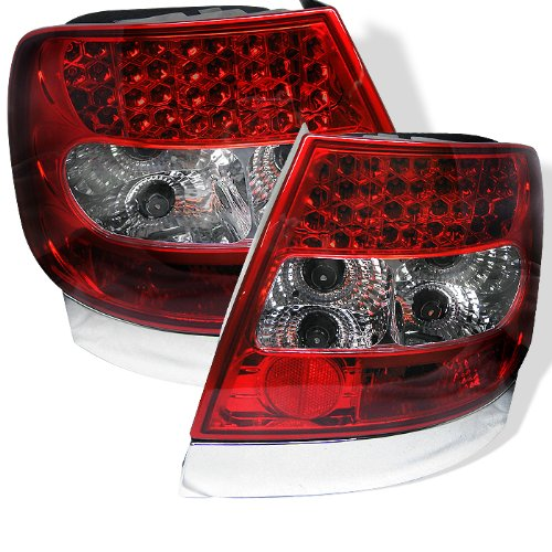 Spyder Audi A4 96-01 Led Tail Lights - Red Clear