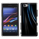 Be Good Phone Accessory Hard Shell Protective Cover Case for Sony Xperia Z1 Compact D5503 Lines Black Velvet Fabric Fashion