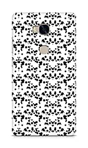 Amez designer printed 3d premium high quality back case cover for Huawei Honor 5X (Black n White Pattern12)