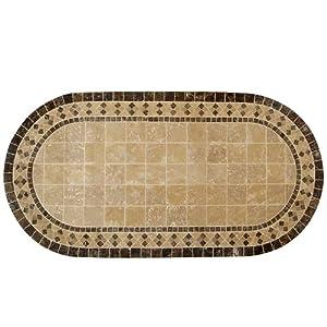 Tavolo in ferro battuto da giardino piano in pietra cm for Panchina ferro battuto amazon