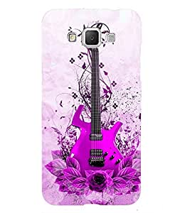 Fuson Premium Back Case Cover Stylish pink Guitar With Yellow Background Degined For Samsung Galaxy Grand 3 G720::Samsung Galaxy Grand Max G720