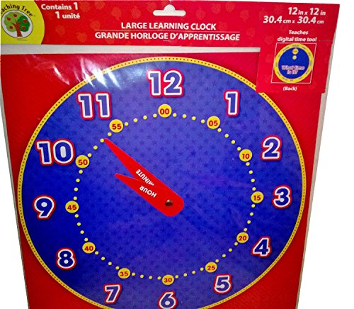 Teaching Tree Large Learning Clock - 1