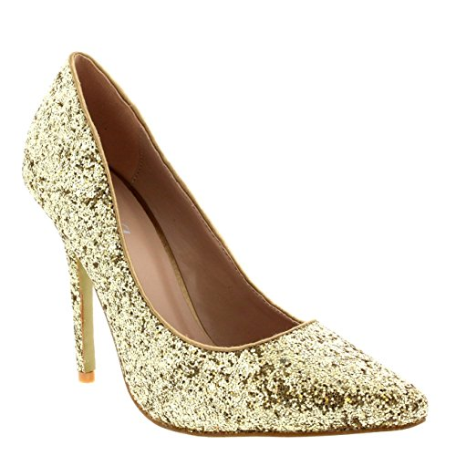 Womens Prom Crystals Bridal High Heels Party Stiletto Heel Court Shoes