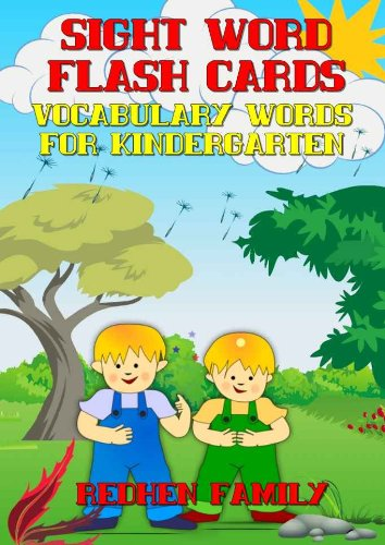 SIGHT WORD FLASH CARDS:VOCABULARY WORDS FOR KINDERGARTEN