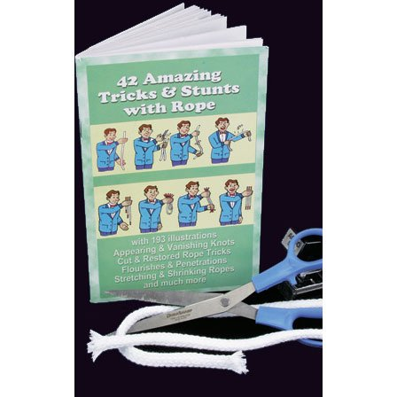 42 Amazing Rope Tricks Book Magic Book (1 per package)
