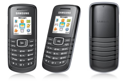 Samsung E1080 Unlocked Dual-Band GSM Phone – International Version with Warranty (Black) – NOT for use in the USA