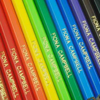 Personalised Gold Blocked Colour Pencils