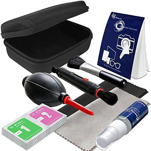 LS Photography Camera Lens Filter Cleaning Bundle Kit, Hard Shell Carry Case, Cleaning Pen Brush, Air Blower, Liquid Cleaning Agent Fluid, Cleaning Cloth, Wet / Dry Wipe Tissue, Photo Studio, LGG527 (Camera Wet Cleaning Kit compare prices)