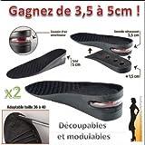 Probache - Lot de 2 semelles talonnettes grandissantes coussin d air pour femme modulable 3 a 5 cm