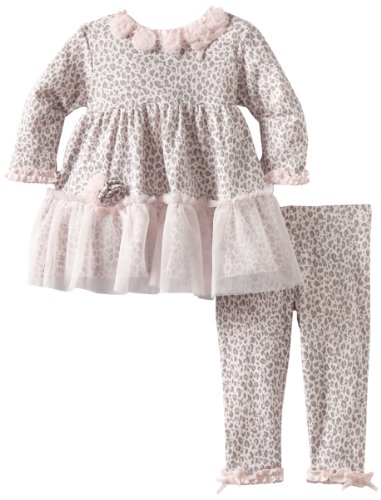 Biscotti Baby-girls Newborn Leopard Lullaby Dress with Legging