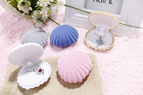 eqlefr-2-pcs-of-seashell-shape-jewelry-boxes-holder-for-necklace-earring
