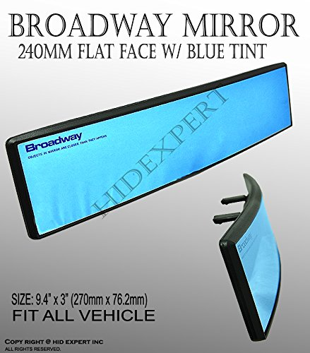 JDM Broadway Anti-Glare Blue Tint 240mm Convex Rear View Mirror Clip on New #1NE (Toyota Corolla 2011 Rearview compare prices)