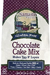 Namaste Foods, Gluten Free Chocolate Cake Mix, 26-Ounce Bags (Pack of 6)