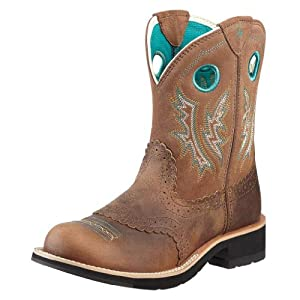 Ariat Women's Fatbaby Cowgirl Boot,Powder/Brown/Tan,6.5 B US