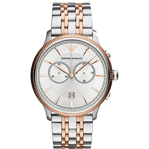 Emporio Armani-Reloj de pulsera para hombre XL Cronógrafo Cuarzo Acero inoxidable AR1826