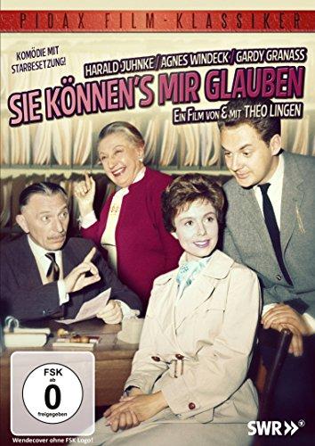 Sie können's mir glauben / Komödienrarität mit Theo Lingen und Harald Juhnke (Pidax Film-Klassiker)