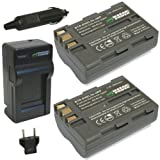 Wasabi Power KIT-BTR-ENEL3e-LCH-ENEL3-01 Charger & Batteries Kit (2 Batteries)