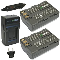 Wasabi Power Battery and Charger Kit for Nikon EN-EL3e D50 D70 D70s D80 D90 D100 D200 D300 D300S D700