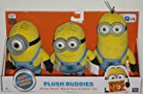 Despicable Me 2 Plush Buddies Exclusive 3-pack with Minion Stuart, Minion Dave and Minion Tim