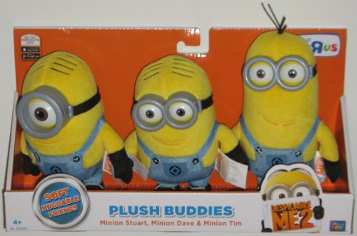 SELECTION OF SOFT PLUSH TOYS. MINIONS from DESPICABLE ME 2