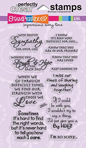Stampendous SSC1117 Perfectly Clear Stamp, Sincere Sentiments