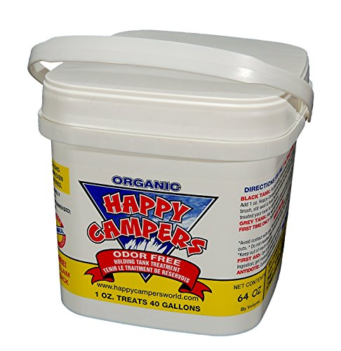 Happy Campers Organic RV Holding Tank Treatment - large tub, 64 treatments for RV, Marine, Camping, Portable Toilets (Toilets For Campers compare prices)