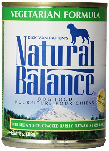 Natural Balance Canned Dog Food, Vegetarian Recipe, 12 pack of 13 ounce cans (Canned Dog Foods compare prices)