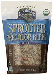 Lundberg Organic Sprouted Tri-Color Blend Rice, 16 Ounce