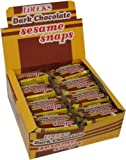 Loucks Dark Chocolate Sesame Snaps, 1.4-Ounce Snaps (Pack of 24)