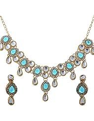 Vivanka Jewels Designer Gold Plated Kundan Necklace Set - B00MS4XXPA