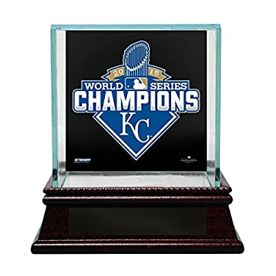 MLB Kansas City Royals 2015 World Series Champions Glass Baseball Display Case, Small, N/A