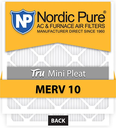 2 Pack 2 Piece Nordic Pure 10x24x1 MERV 7 Plus Carbon Pleated AC Furnace Air Filters