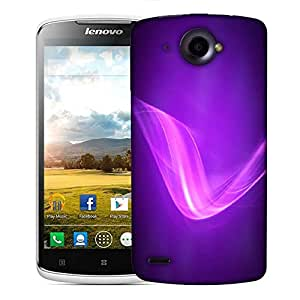 Snoogg Neon Purple Wave Designer Protective Phone Back Case Cover For Lenovo S920