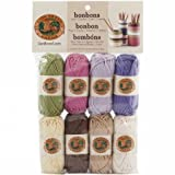 Lion Brand Yarn 601-640 Bonbons Yarn, Nature