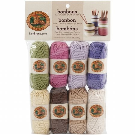 Lion Brand Yarn 601640 Bonbons Yarn, Nature Picture