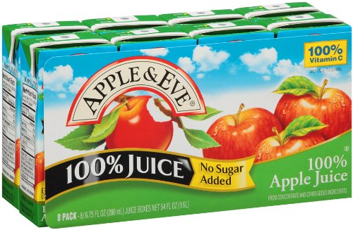 Apple & Eve 100% Apple Juice, 6.75 Oz. 8 Count (Pack Of 5) front-733108