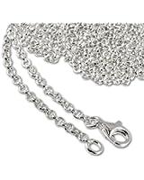SilberDream 925 Sterling Silber Charm Halskette 55cm Kette für Charms Armband Anhänger FC002855-1