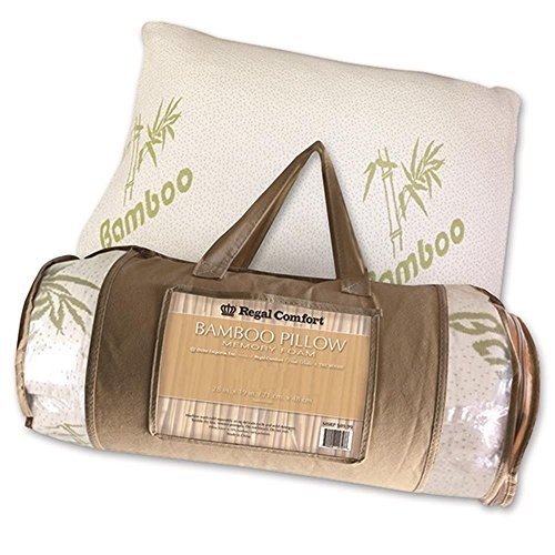 Review Regal Comfort Bamboo Firm Memory Foam Bed Pillow (King)