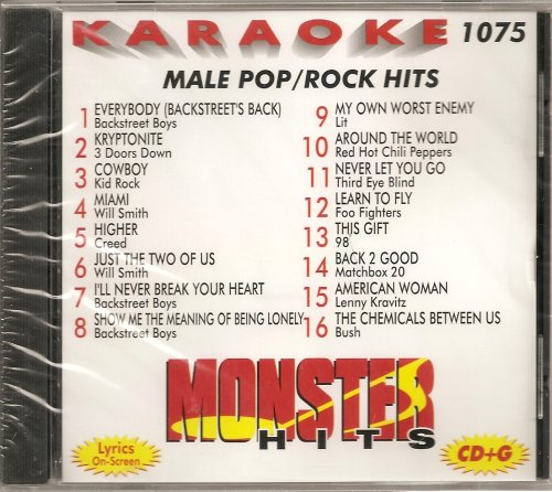 Monster #1075 Karaoke Cdg Male 90'S Pop & Rock Hits