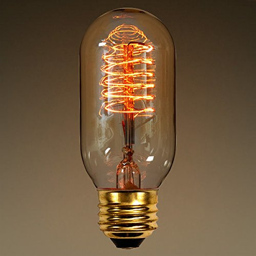 40 Watt - Vintage Antique Light Bulb - Radio Style - 4.125 in. Length - Spiral Filament - Multiple Supports - Clear (Antique Light Bulb Co compare prices)