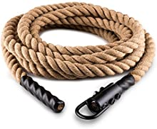 Capital Sports Power Rope Cuerda para impulsar 9m 3,8cm Cáñamo Gancho de techo