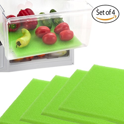 Dualplex Fruit & Veggie Life Extender Liner for Refrigerator Drawers (4 Pack) - Extends the Life of Your Produce & Prevents Spoilage, 12X15 Inches (Refrigerator Fruit Storage compare prices)