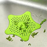 gangnumsky-2016 Colorful Silicone Kitchen Sink Filter Sewer Drain Hair Colanders & Strainers Filter Bathroom Sink-Green