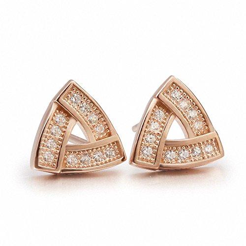 weihnachten Deal vergoldet  Sterling Silber Schmuck eingelegten feinen Triangle Ohrringe für Männer Frauen Ohrringe für Männer