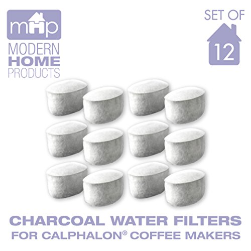 Charcoal Water Coffee Filter Cartridges, Replaces Calphalon Style Water Coffee Filters- Set Of ...