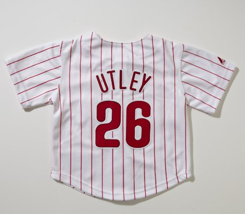 Majestic Chase Utely Philadelphia Phillies Toddler Replica Jersey-White Pinstripe (7) at Amazon.com