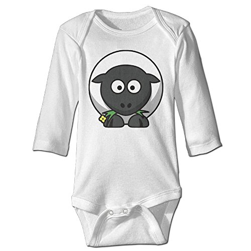 [Cartoon Funny Sheep Cute Boy And Girl Infants Climb Clothes 6 M White] (Black Sheep Costume Toddler)