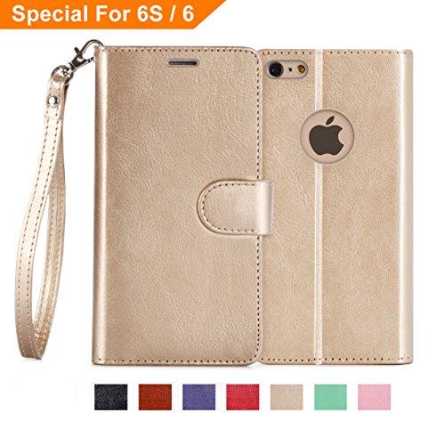 Custodia-iPhone-6SiPhone-6-CoverFyy-Serie-Ottime-Lussuosa-PU-Custodia-del-Cuoio-Genuino-Copertura-Tutta-Potente-per-iPhone-6-47-Pollici-Oro
