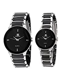 TARSA IIK Pair Of Black Dial Men's Watch & Black Dial Women's Watch - B01AO65G94