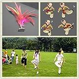 EWIN(R) 10pcs Sport Kick Shuttlecock Chinese Jianzi Toy Play JIANZI Game
